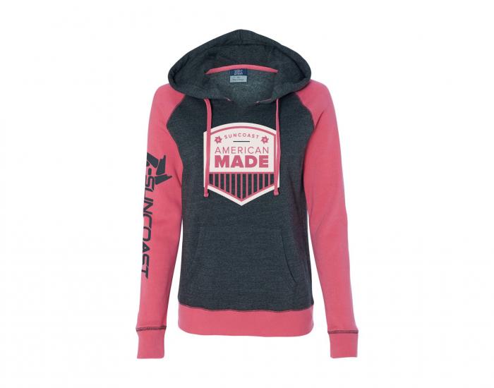 SunCoast Diesel - (FINAL BLOWOUT) Women's American Made Pullover Hoodie (Hyper Pink)