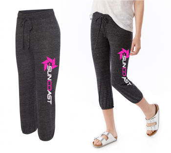 SunCoast Swag - Womens Apparel - SunCoast Diesel - Women's Jogger Pants (Eco-Black and Pink)