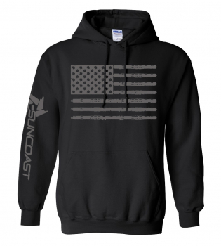 SunCoast Swag - Mens Apparel - SunCoast Diesel - Flag Pull over Hoodie (Black)