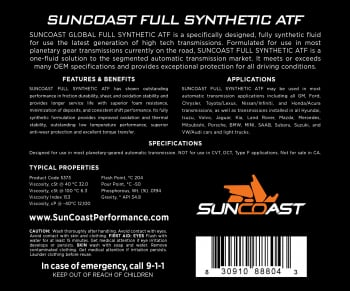 SunCoast Diesel - Full Synthetic Transmission Fluid (CASE OF 3) - Image 3